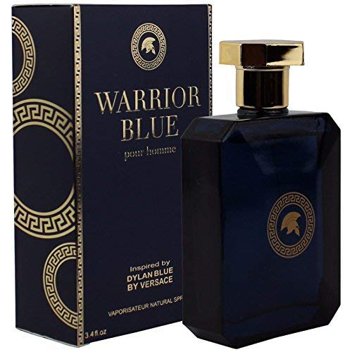 - Fragrance Warrior Blue For Him Inspired By Versace For Men, True Love Fragrance - Eau De Parfum 3.3 FL.Oz. / 100M Father and Boyfriend Scent and Odor Spray