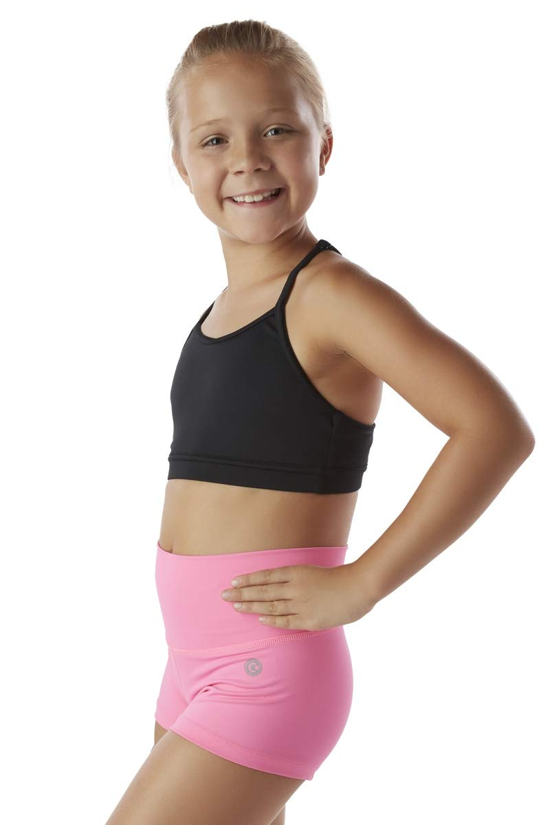 Liakada Girls Argyle Supportive Sports Bra with Scoop Neckline Dance, Gym, Yoga, Cheer! Black by Liakada
