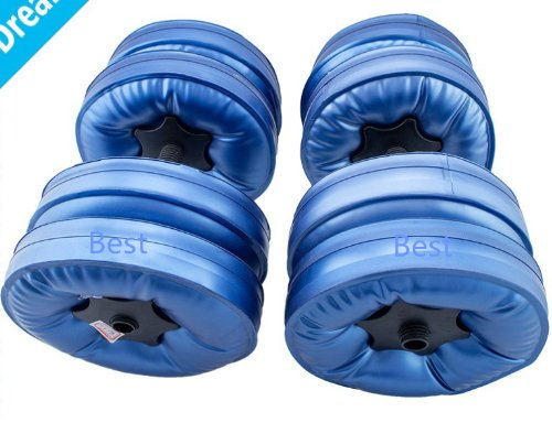 Best to Buy Good quality plastic poured water dumbbell (weight could be...
