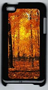 Apple iPod 4 Case and Cover - Orange Forest PC Case Cover for iPod 4/ iPod 4th Generation - Black