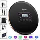 HONGYU Portable CD Player with LED Display Anti-Shock Personal CD Music Disc Players for Kids Adults Students Walkman Compact CD Player