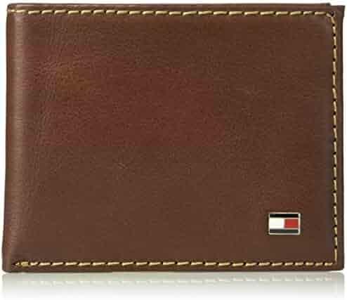 Tommy Hilfiger Men's RFID Blocking 100% Leather Passcase Bifold Wallet
