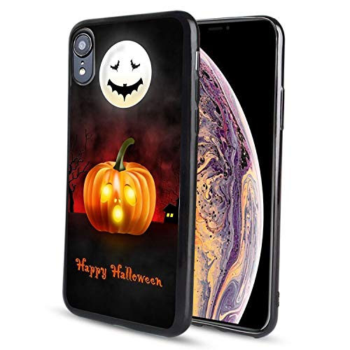 pzicase iPhone XR 6.1 inch Case,Happy Halloween Design TPU Soft Silicone Protective Durable Shockproof Case for iPhone -