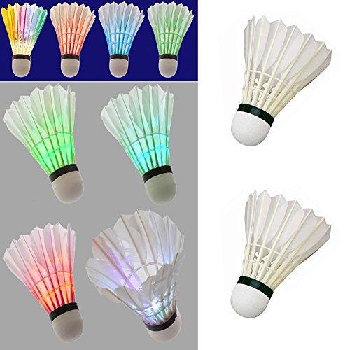 4Pcs Colorful LED Shuttlecock Badminton - 2