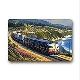 Eveler Cool Steam Train and Railway Indoor/Outdoor Floor Mat Doormat(15.7x23.6 inch)