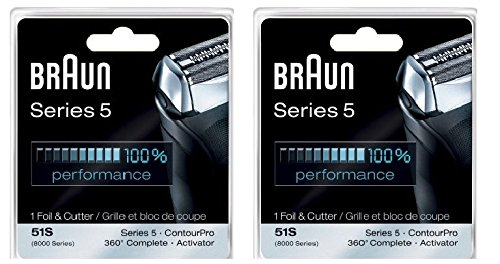 Braun Series 5 Combi 51s Foil And Cutter Replacement Pack (Formerly 8000 360 Complete Or Activator) (Double Pack) (Braun Shaver 550cc compare prices)