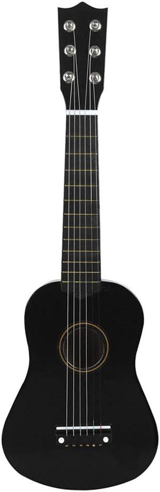 Alivier Guitarra acústica clásica de 21 pulgadas 6 cuerdas de nylon Instrumental musical para principiantes Amantes de la música para principiantes