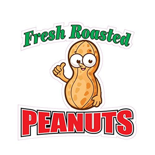 Fresh Boiled Peanuts Concession Restaurant Die-Cut Window Static Cling 18 inches Outside Glass