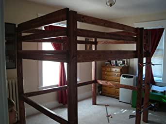 Build Your Own Loft Bunk Bed Twin Full Queen King Adult Child Sizes Pattern Diy