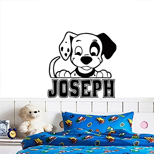 Personalized 101 Dalmatians Inspired Puppy Custom Name Vinyl decal Nursery Kids Room Decor Wall Mural Sticker (22