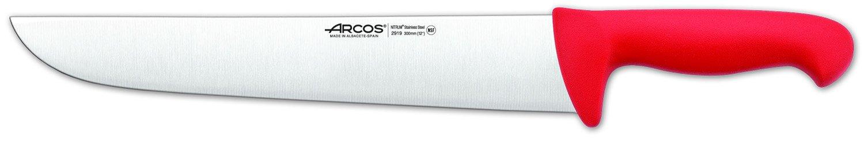 Arcos 12-Inch 300 mm 2900 Range Butcher Knife, Red