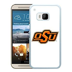 For HTC ONE M9,NCAA Big 12 Conference Big12 Football Oklahoma State Cowboys 4 White Protective Case For HTC ONE M9