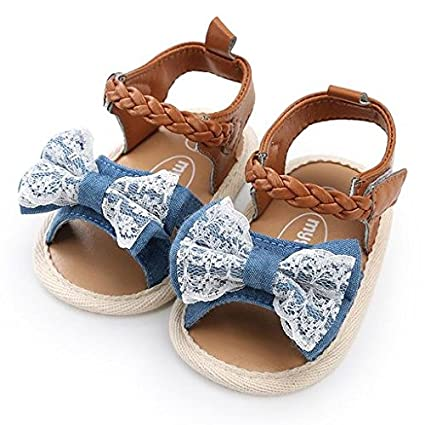 6f70bf9b8e672 Amazon.com: Morrivoe Baby Girl Boy Shoes for 0-18 Months,Bow Knot ...