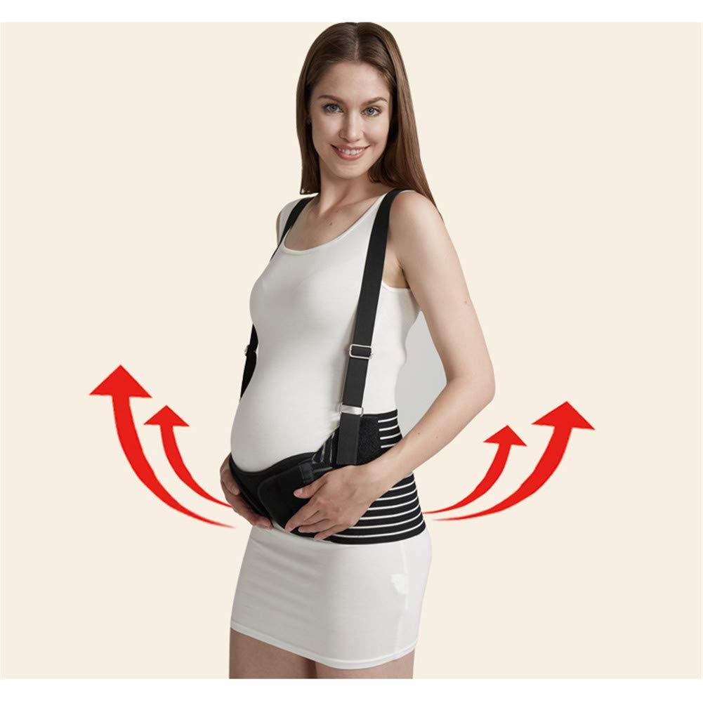 Pregnancy Breathable Belt for Easing Hip Pelvic Waist Abdomen, Pregnancy Belly Support Band,Black,XL