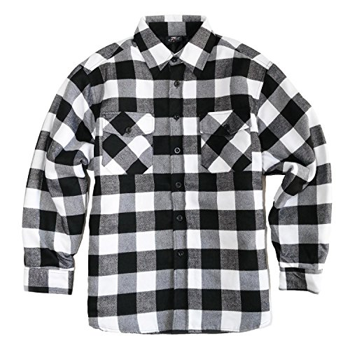 Black and white flannel shirt men 39 s for White flannel shirt mens