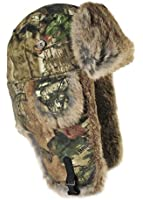 Mad Bomber Canvas Bomber Cap with Real Fur