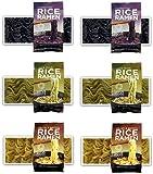 Lotus Foods -Gluten Free Rice Ramen Variety Pouch 6 Pack - [Forbidden Rice, Jade Pearl Rice, Millet & Brown Rice ]