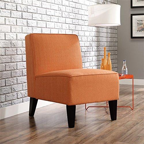 Sauder 416338 Nilsen Armless Accent Poly Chair, Orange