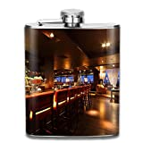 SmallHan Bar Counter With Chairs In Empty Comfortable Restaurant At Night Gift For Men 304 Stainless Steel Flask 7oz
