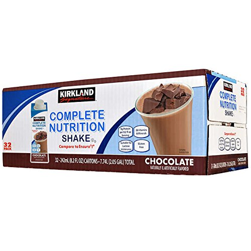 Kirkland Signature Complete Nutrition Shakes, 32-pack, 8.2 fl. oz. (Chocolate) (Kirkland Complete Nutrition Shake For Weight Loss)