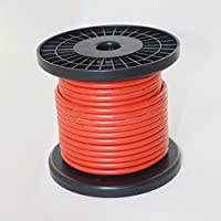 BNTECHGO 10 Gauge Silicone Rubber Wire 50ft Red Ultra Flexible Silicone Wire 600V 200 deg C High Resistant 10 Awg Silicone Wire 1050 Strands 0.08mm Fine Tinned Copper Conductor Wire
