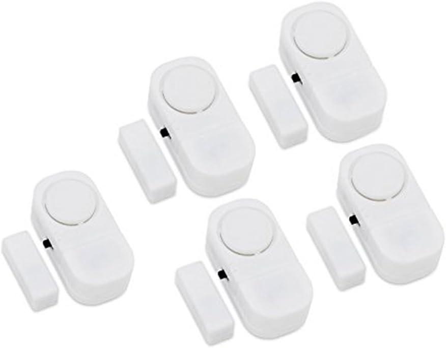 Ymadpke Door Window Alarm, Home Security Wireless Magnetic Sensor Burglar Anti-Theft Alarm - DIY Easy to Install (Home Alarm (5 pcs))