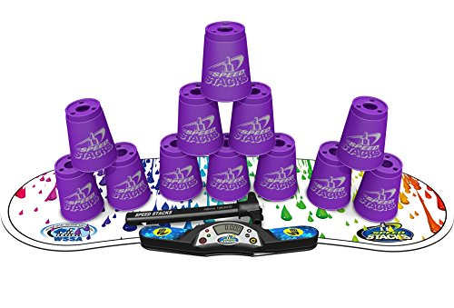 Speed Stacks Competitor - Royal Purple w/ Rainbow Drops Mat