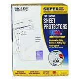 C-Line SuPer Heavyweight Polypropylene Sheet Protectors, 8.5 x 11-Inch, Clear, 50 Per Box (61003)