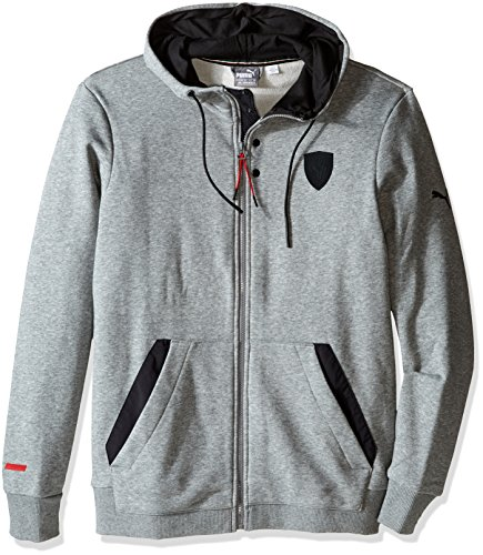 - PUMA Men's Ferrari Hooded Sweat Jacket, Medium Gray Heather Large