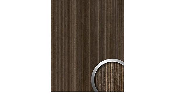 Panel decorativo aspecto madera WallFace 19027 WENGE WOOD decoración de madera tacto natural revestimiento mural autoadhesivo beige marrón oscuro 2,60 m2: ...