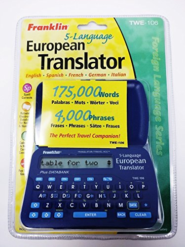 Franklin 5-language European Translator TWE-106 - 175,000 words - 4,000 phrases English, Spanish, French, German, Italian by FR