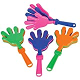 """~ 24 ~ Hand Clappers Noisemakers Favors ~ 7.5"""" ~ NEW"""