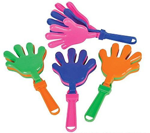 ~ 24 ~ Hand Clappers Noisemakers Favors ~ 7.5
