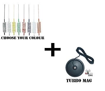 "1,55 M aguijón negro CB 27 MHz + 7 ""Turbo Mag 3"