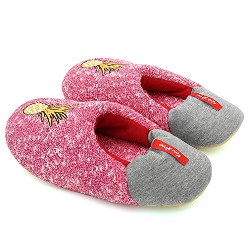 Indoor Flamingo Slid Women's ALOTUS Warm Cute Slippers Woolen Red Soft Anti Animal vZwFCTq