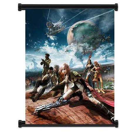 Amazon.com: Final Fantasy XIII 13 Juego Tela Wall Scroll ...