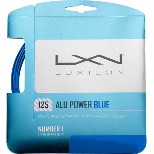 Luxilion ALU Power 125 Tennis Racquet String Set (16L Gauge, 1.25 mm) in Limited Edition Colors