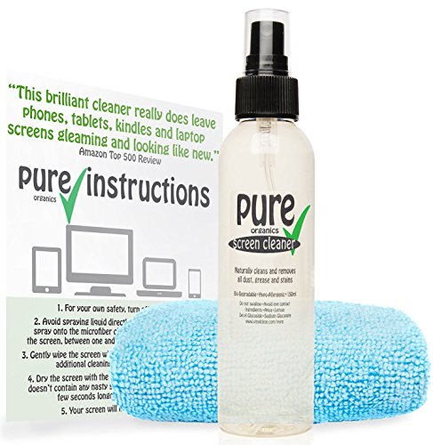 150 Ml Screen Cleaner (150ml Screen Cleaner Spray with Microfibre Cloth - Phone, Laptop, PC, TV, Tablet)