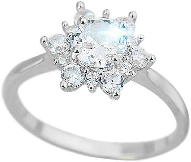 Kiranly Rings,Women Black Diamond Cut Diamond Princess Jewelry Wedding Engagement Gift