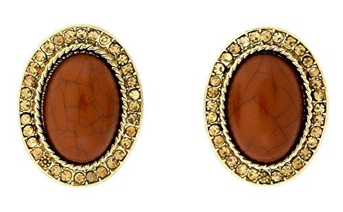 Cabochon Oval Earrings - 2
