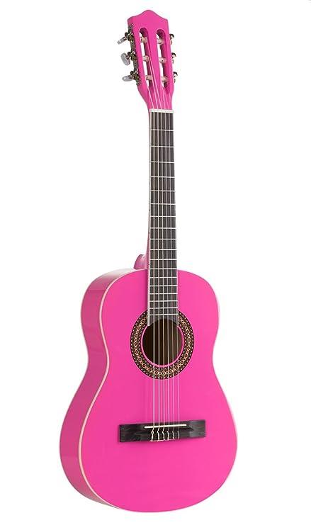 Voggenreiter - Guitarra infantil, color rosa