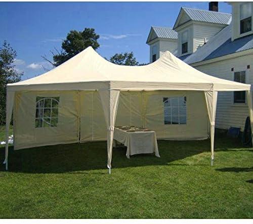 Tente de r/éception Quictent Grande tente de r/éception imperm/éable Abri d/év/énements 6.79x4.9M cr/ème Grande tente de f/ête Tonnelle de jardin