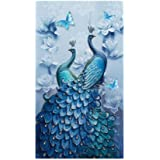 Charhoden Peacock Painting, Purple, 45 x 75 cm, Jx-0387