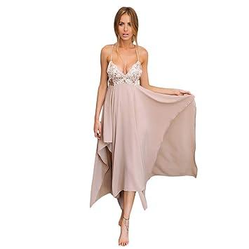 f698c9c9a244 SBL Lentejuelas Bordadas De Las Mujeres Dulce Tirantes Vestido con ...