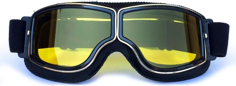 Hcmax Vintage Brille Sport Sonnenbrillen Helm Steampunk Brillen Motocross Im Freien Rennfahrer Motorrad Flieger Pilot Stil Cruiser Scooter Brille Retro Für Kinder Männer Und Frauen Auto