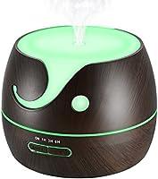 VicTsing 400ml Humidificador Ultrasónico Aromaterapia, Difusor de Aceites Esenciales de Vapor Frío, 7-Color LED y 4 Ajustes de Tiempo, Perfecto para Hogar, Oficina, Bebé, Dormitorio y Baño, etc
