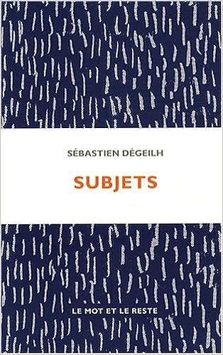subjets sï bastien degeilh 9782915378603 amazon com books