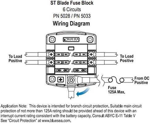 blue sea wiring diagram amazon com blue sea systems st blade fuse block 6 circuits with blue sea 5511e wiring diagram blue sea systems st blade fuse block