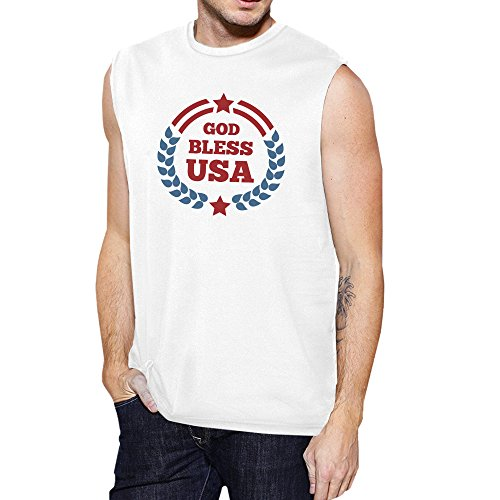 Usa Printing Manche God Bless Unique Pull Homme 365 Taille Sans UAWwzPwTq