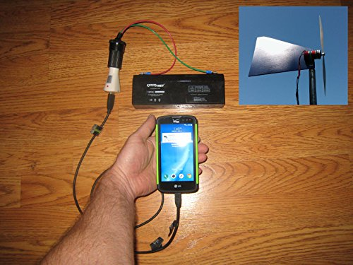Cell Charger Wind Turbine Generator Kit (Phone Charger Wind)
